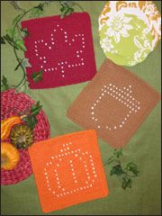 Autumn Days Knit Dishcloths pattern download from www.AnniesCatalog.com. Only $4.99. Order here: http://www.anniescatalog.com/detail.html?prod_id=82656
