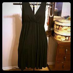 Evening dress Sexy black dress with umpire waist, deep V neckline, front and back (worn twice) very comfortable New York & Company Dresses Midi