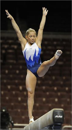 Shawn Johnson, balance beam, gymnast,