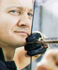 Clint Barton - he doesn't get many lines, but he's still pretty great.
