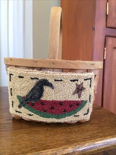 Punch Needle Patterns, Applique Patterns, Hook Punch, Penny Rugs, Punch Art, Types Of Rugs, Crows, Rug Hooking, Primitives