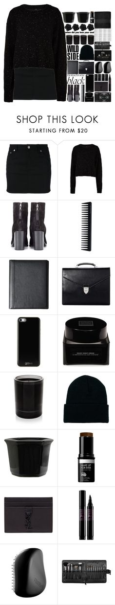 """""""Monochrome: All Black Everything"""" by tiffanyelinor ❤ liked on Polyvore featuring Givenchy, TIBI, rag & bone, GHD, Tumi, Aspinal of London, Gooey, Erno Laszlo, Byredo and American Apparel"""