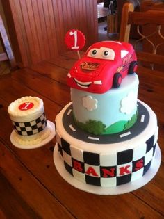 My boy loves cars so maybe Kid stuff Pinterest Car cakes