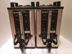 2 Bunn 1.5 Gallon Servers SH Model Coffee System Bunn-O-Matic Stainless Steel…