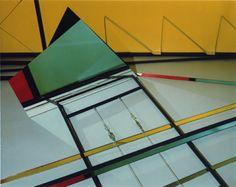 Barbara Kasten- Construct XVIII Y, 1982, Polaroid, 8x10in