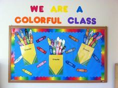 Back to School Bulletin Board ... crayons art