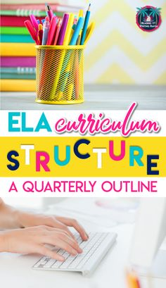 Wondering how to structure an ELA class? There are so many options! In this post, you'll find a quarterly outline to help you pace the ELA curriculum and standards as well as maintain some organization. #ELACurriculum #MiddleSchoolELA #HighSchoolELA #ClassStructure Vocabulary Instruction, Grammar And Vocabulary, Vocabulary Activities, Middle School Writing, Middle School English, Creative Teaching, Teaching Ideas, Teaching Strategies, Creative Writing
