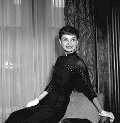 Audrey Hepburn at a welcome home party for her at Claridges Hotel in London, 1953.