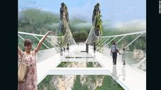World's longest and highest glass-bottom bridge to open in China