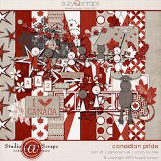 Canadian Pride Canada Day, Digital Scrapbooking, Pride, Holiday Decor