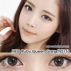 Love these NEO Vision Ruby Queen Gray circle contacts from www.eyecandys.com! #circlelens #cute #ulzzang #prettyeyes