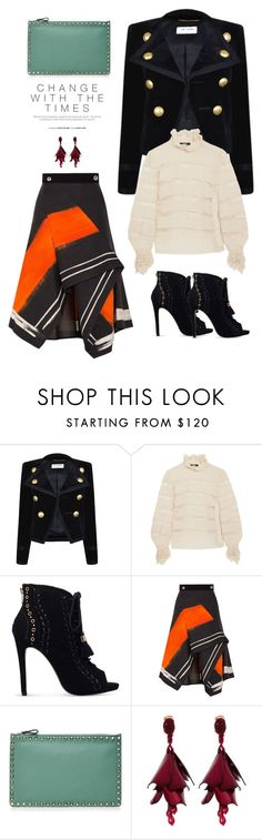 """""""Details."""" by cheetakat12 ❤ liked on Polyvore featuring Yves Saint Laurent, Isabel Marant, Miss KG, Peter Pilotto, Valentino, Oscar de la Renta, NYFW, fallstyle and nyfwstreetstyle"""