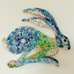 "Emma Leith on Instagram: ""If you would like to make a mosaic Hare with me then now is your chance! I have one place left for the full day workshop on Saturday 9th…"" Mosaic Animals, British Wildlife, Mosaic Crafts, Then And Now, Hare, Photo And Video, Rabbits, Mosaics, Workshop"