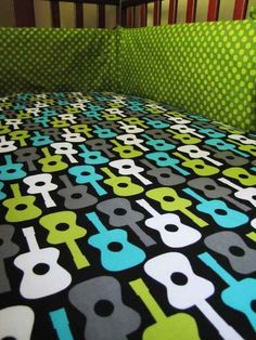 """""""Sweet dreams are made of these..."""" rocking baby bedding sets.   24 Baby Products Every Music Loving Parent Needs"""