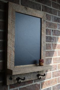 Rustic and Reclaimed Barn Wood Chalkboard. Very cool!