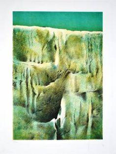 Lewis José Araque Paiva - Sin Título (Paisaje Orgánico)  Técnica  Litografía  Dimensiones  66 x 43cm  Institución  Museo Carmelo Fernández