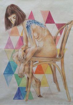 In un solo soffio  Acquerello e matita su carta 29,7x42cm