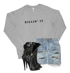 """""""Untitled #2574"""" by xirix ❤ liked on Polyvore featuring Yves Saint Laurent and Giuseppe Zanotti"""