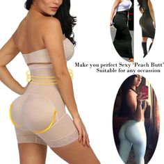 SENSUAL SLIMMING BUTT LIFT PADDED THERMAL PANTY COMPRESSION BODY CONTROL SHAPER