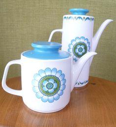 Retro Coffee Pot J  G Meakin  - England. £20.00, via Etsy.