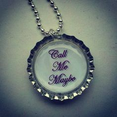 Call Me Maybe Bottle Cap Necklace by BottleBlingJewelry on Etsy, $5.00
