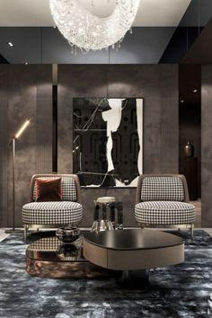 Luxury Dining Room, Dining Room Design, Luxury Living, Office Interior Design, Luxury Interior Design, Design Interiors, Home Decor Bedroom, Living Room Decor, Lobby Design