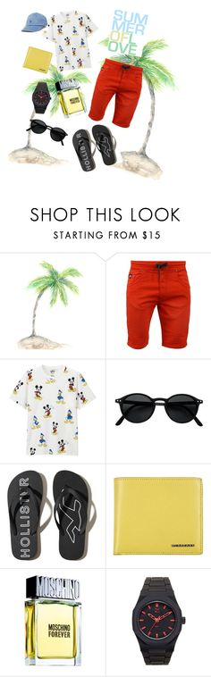 """man's fashion 💛💙"" by inlovewithfashionnn ❤ liked on Polyvore featuring Uniqlo, Hollister Co., Burberry, Moschino, d1 Milano, Polo Ralph Lauren, men's fashion and menswear"