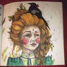 Instagram media rudawstazka - #kolorowanie #kolorowanka  #karolinakubikowska #podrugiejstroniesnu #coloringbookforadults #coloringbook #coloring #shadyas #zencolouring #adultcoloringbook #adultcoloring #mondeluz #kohinoor #evening #arttherapy #girl #bird #polishgirl