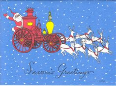 Santa on Pumper Card Set