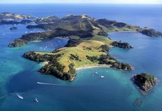 In honor of the Kiwis at the America's Cup, here is the Bay of Islands, New Zealand