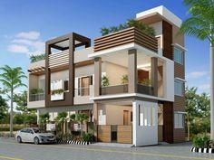 Wonderful Front Elevation Designs For 3 Floors Building