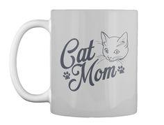 Cat Mom T Shirts Lt Grey Mug Front