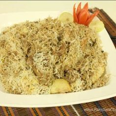 White Biryani Recipe By Shireen Anwar - Pakistani Chef Recipes Rice Recipes, Gourmet Recipes, Chicken Recipes, Healthy Recipes, Shireen Anwar Recipes, Biryani Chicken, Boiled Chicken, Biryani Recipe, Recipe Collection
