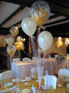 Decoración con globos para bautizo para niña - Imagui