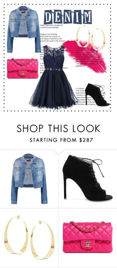 """""""Denim Jacket"""" by hasher ❤ liked on Polyvore featuring 7 For All Mankind, Yves Saint Laurent, Lana, Chanel and Laona"""