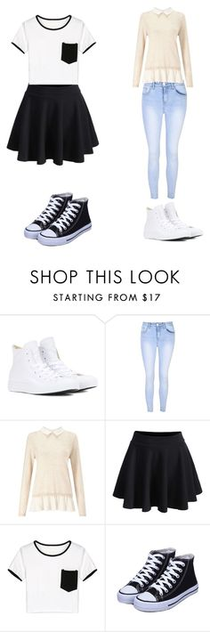 """Outfit"" by icecreamarble ❤ liked on Polyvore featuring Converse, Glamorous, Miss Selfridge and WithChic"