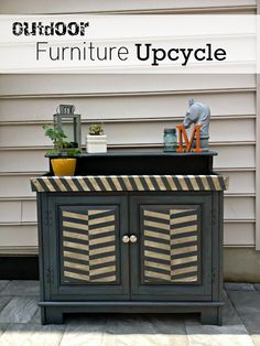 Guest Post: East Coast Creative Rocks an Old Stereo Cabinet - Makely School for Girls Paint Furniture, Furniture Making, Furniture Makeover, Furniture Ideas, Outdoor Furniture Design, Recycled Furniture, Wood Shoe Storage, Ombre Paint, Stereo Cabinet