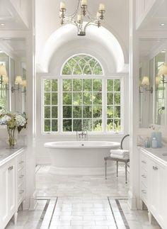 Dream Bathrooms, Beautiful Bathrooms, Luxury Bathrooms, Master Bathrooms, Mold In Bathroom, Bathroom Tubs, Bathroom Gray, Bathroom Colors, Small Bathroom
