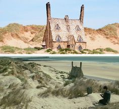 Harry Potter and the Deathly Hallows: Part 2: Shell Cottage, Freshwater West, Pembrokeshire, Wales.(Bill Weasley and Fleur Delacour home) #wales #HP #harrypotter #film