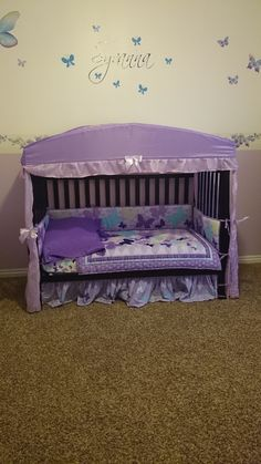 Baby Toddler Bed Vs Easy Ikea Hacks For The Nursery Ikea Crib Baby Room . Crib Mattress Conversion To Toddler Bed Carousel Designs . DIY: Make Your Own Crib Skirt. Home and Family Toddler Loft Beds, Toddler Rooms, Old Cribs, Diy Bett, Diy Crib, Crib Mattress, Floor Mattress, Crib Bedding, Little Girl Rooms