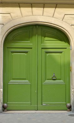 apple green french doors