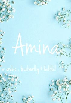 Amina - baby girl name!  Pronounced: Ahh-meena #babynames #names #girlnames Baby Girl M Names, Cute Baby Names, Kid Names, Female Character Names, Female Names, Cool Names, Pretty Names, Unique Baby Names, Fantasy Names