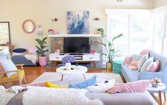 Wow! 💜 Wat vinden jullie van deze woonkamer? 💜 Credits zijn voor de australische @k_bloves