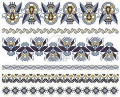 bordados hechos a mano como un buen punto de cruz patrones étnicos Ucrania Foto de archivo
