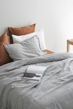 A&C Linen Duvet Cover in French flax bed linen, designed in New Zealand by . - A&C Linen Duvet Cover in French flax bed linen, designed in New Zealand by A&C Homestore in ex - Bedroom Inspo, Home Bedroom, Bedroom Decor, Bedrooms, Mezzanine Bed, Interior Design Minimalist, Design Interior, At Home Store, Home Interior