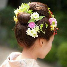 和装の髪型はどうする?* おしゃれに「和」を演出するなら【新日本髪】がオススメです☆ | ZQN♡