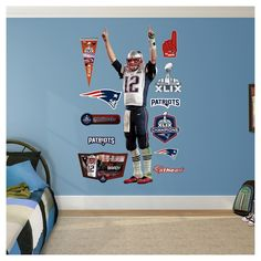 Decorative Wall Art Set Fathead 52 X 4 X 4, New England Patriots