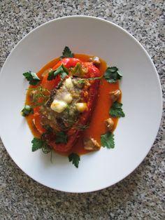 Poivron  farci  de viande  de  veau   et  sauce  de  tomate Gino D'Aquino