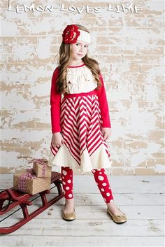 Lemon Loves Lime Santa Baby Dress True Red Fall 2014 Preorders for girls clothing that is cute and fashionable Kids Christmas Outfits, Holiday Outfits, Christmas Dresses, Persnickety Clothing, Little Girl Closet, Holiday Leggings, Red Chevron, Kids Fashion, Gq Fashion