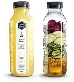 Energy Boost  Pepino + Agua purificada + Lima + Miel + Pétalos de rosa + Polen de abeja